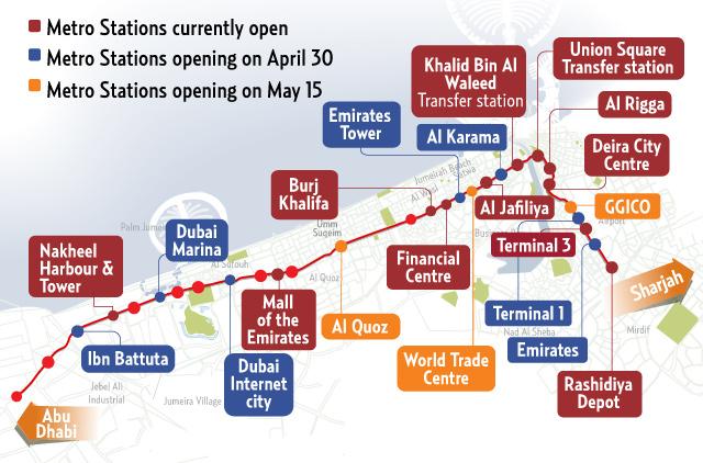 RTA defers opening of Dubai Metro stations