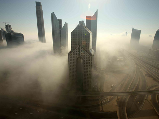 Commuters face delays due to thick fog on Dubai-Sharjah roads on Sunday morning