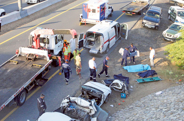 Emirates Road Accident Victim Recovering In Hospital