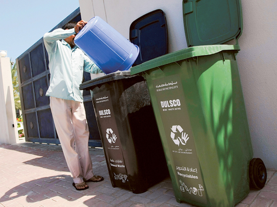 Check your timings for door-to-door recycling, says Dubai ...