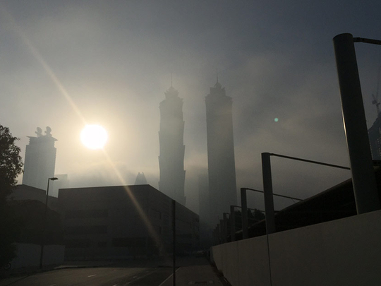 UAE: Overcast skies, scattered rainfall, and rise in temperature