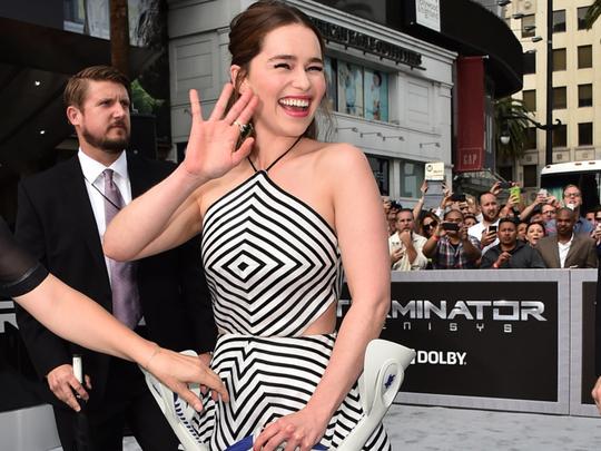 Emilia Clarke injured hip 'break dancing' | Hollywood ...