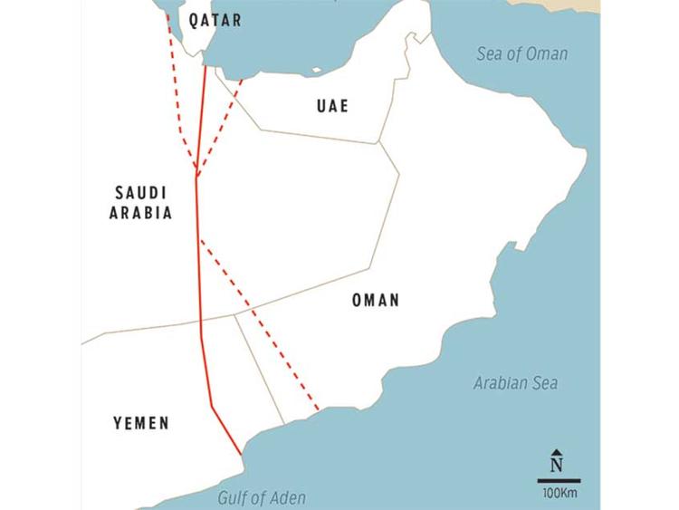 Study calls for 950-kilometre canal bypassing Hormuz | Saudi