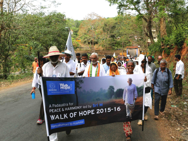 Over 50 expats set out for walk of hope in India
