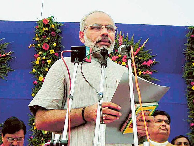 October 7, 2001: Modi sworn in as Gujarat Chief Minister
