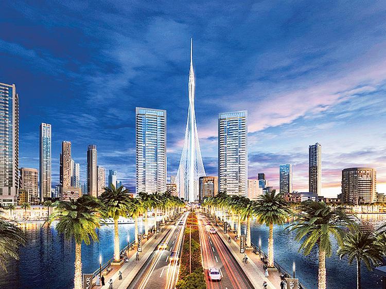 Rising Fast Dubai S Next Tallest Tower Hits Milestone Property Gulf News