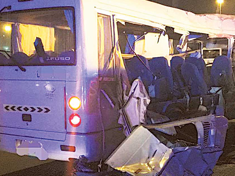 Five killed in horror Dubai bus-truck crash   Transport