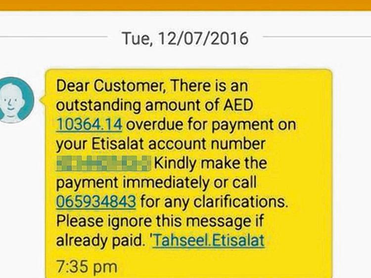 Dh10,000 bill on defunct etisalat account | Uae – Gulf News