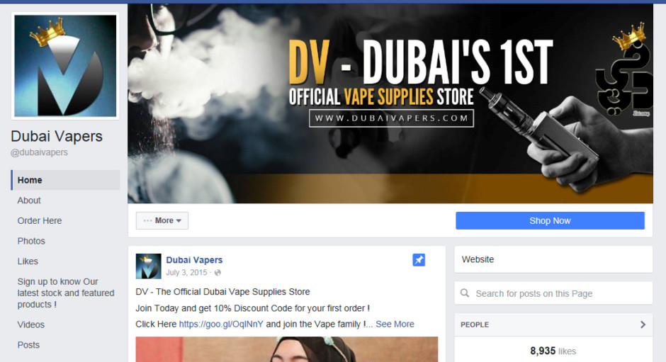 Vaping thrives in UAE despite ban