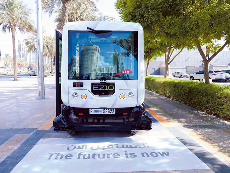 Driverless Vehicle On Trial In Downtown Dubai
