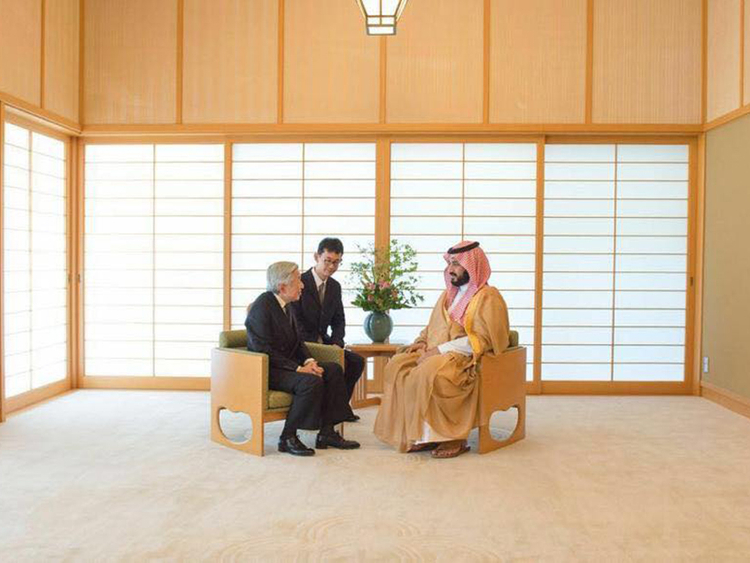 Saudi deputy crown prince in Japan: One perfect picture as