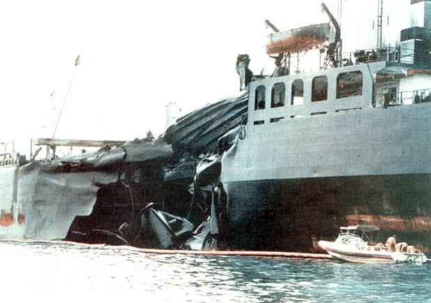 October 16, 1997: Oil spill as tankers collide off Singapore