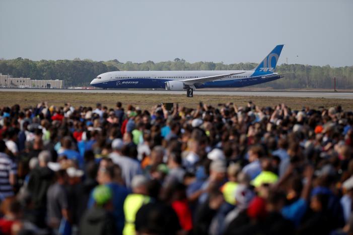 Boeing's newest, largest Dreamliner jet makes first test