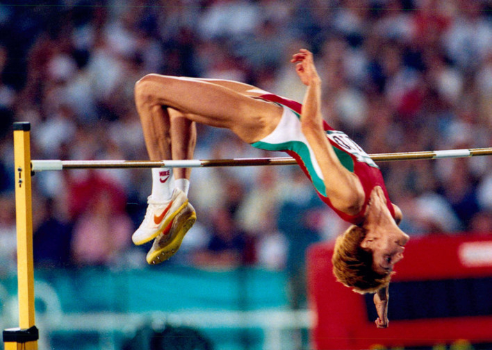 Simone biles withdrew from the floor exercise competition following a thrilling end to the men's high jump, joint gold medal winners gianmarco tamberi of italy and mutaz essa barshim of qatar shared their. March 8 1987 Stefka Sets High Jump World Record Today History Gulf News