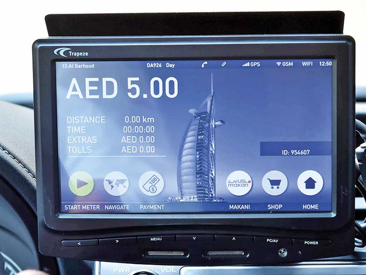 Smart taxi meters with a raft of new features in Dubai