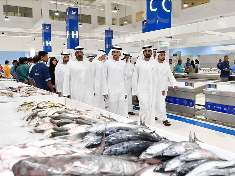 Mohammad Bin Rashid visits Dubai's Waterfront Market