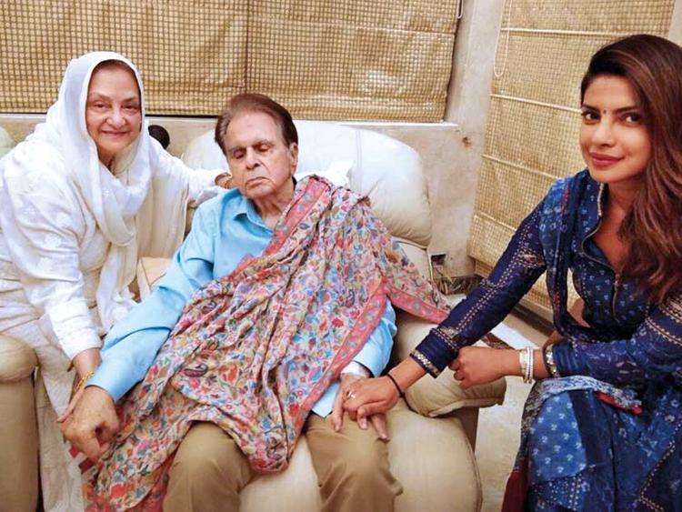 Priyanka Chopra spends time with Dilip Kumar, Saira Banu | Bollywood – Gulf  News