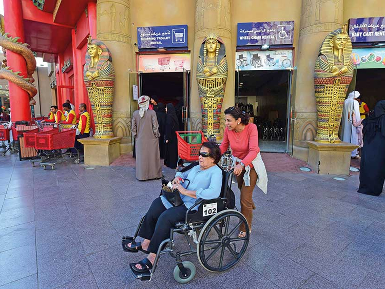Touring Global Village a breeze for people of determination