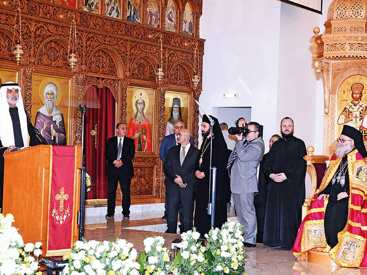 Nahyan inaugurates Greek Orthodox Cathedral in Musaffah
