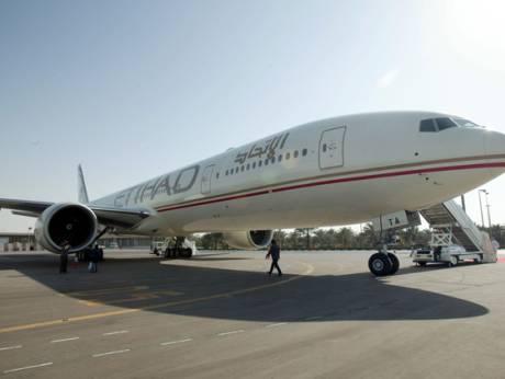 An Etihad Airways aircraft