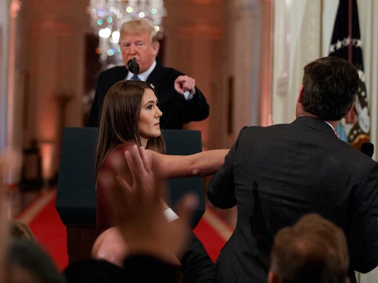 Trump and Acosta 08112018