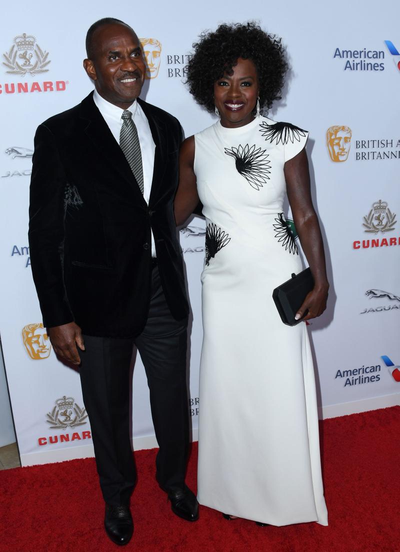 Viola Davis with husband