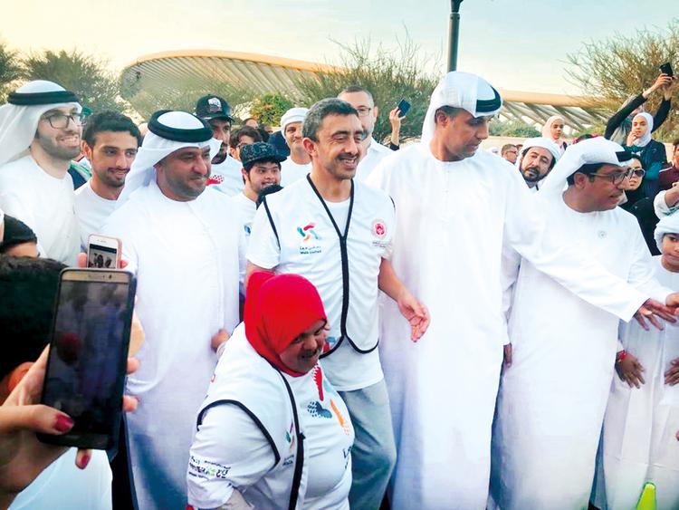 Shaikh Abdullah Bin Zayed Al Nahyan joins the Tolerance Walk
