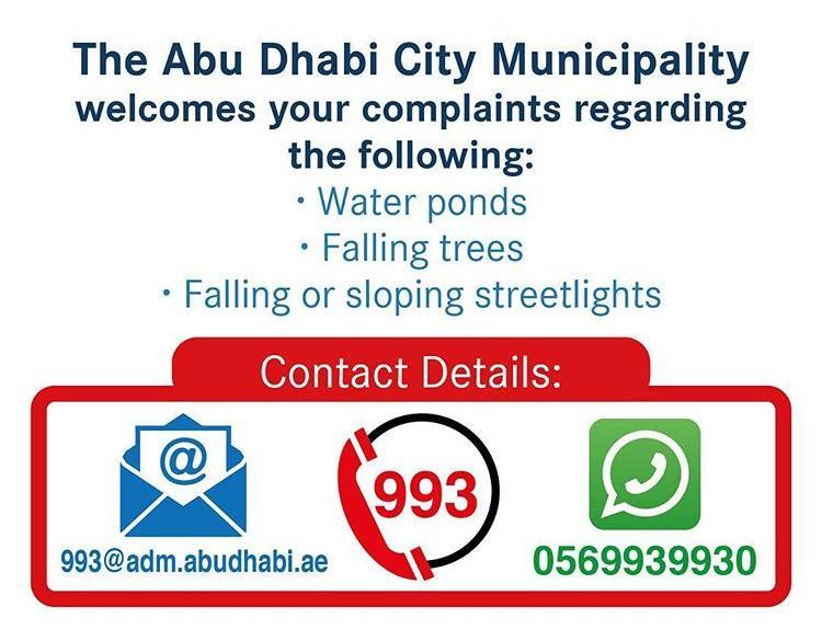 Abu Dhabi Municipality warning