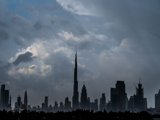Cloudy weather in the UAE