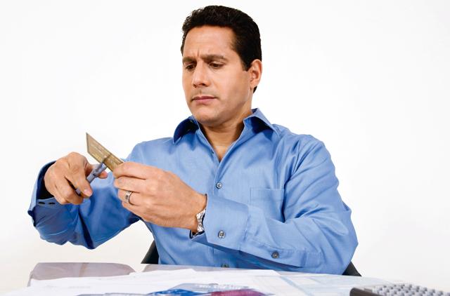 Credit card cut