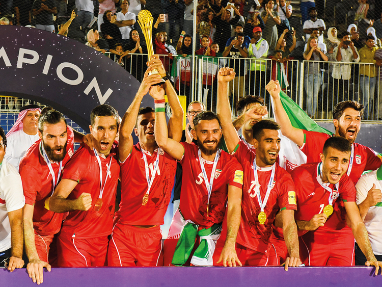 Iran team celebrating