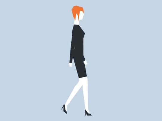 Lady walking illustration