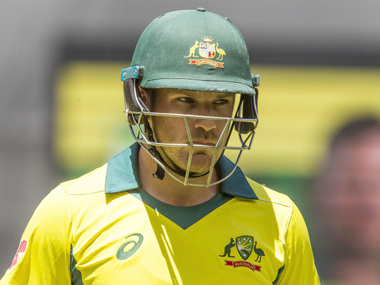 Australia's captain Aaron Finch