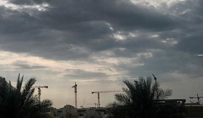 Cloudy skies over UAE