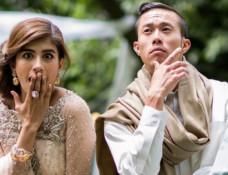 Sino-Canadian actor Kent S. Leung with Saira Sheroz while shooting CHALAY THAY SAATH