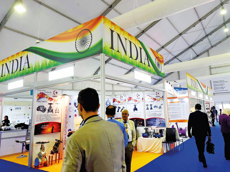 A view of the Indian pavilion at Adipec