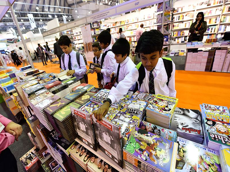 Kids at the Sharjah Book Fair