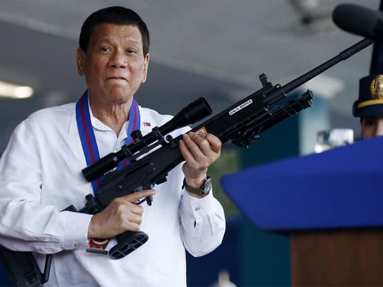 Philippine President Rodrigo Duterte d0901