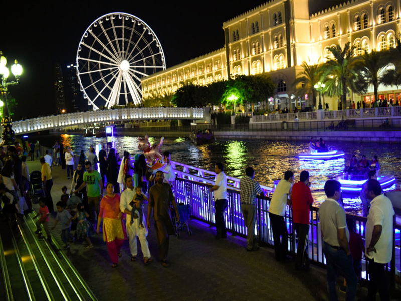 Residents at Qanat Al Qasba in Sharjah