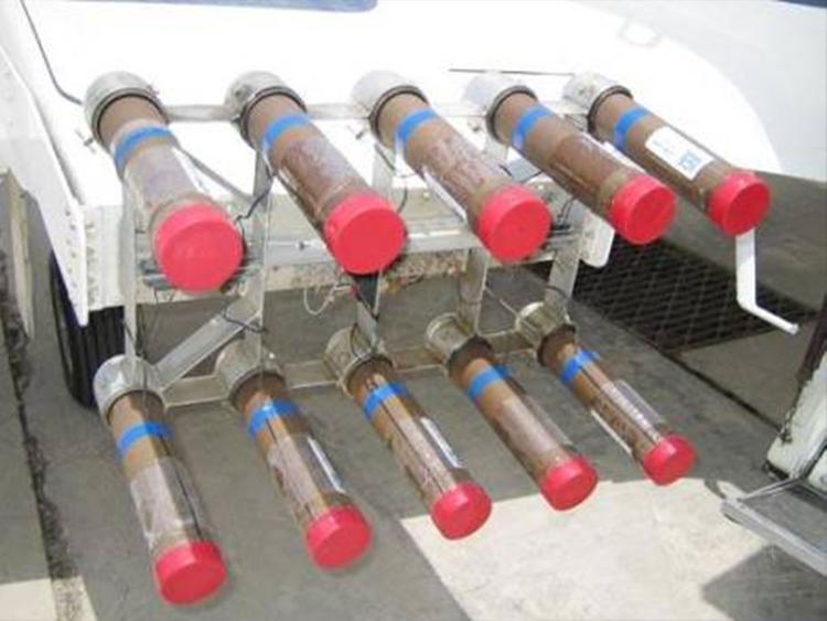 Salt flares used in cloud seeding.