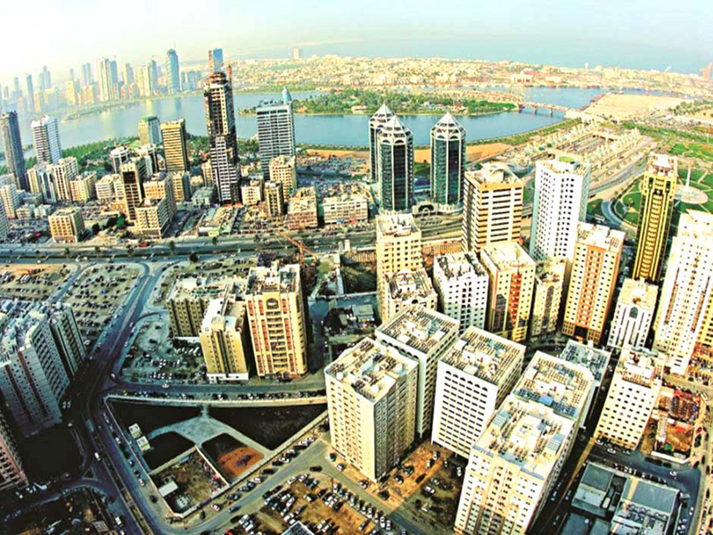 Sharjah aerial view
