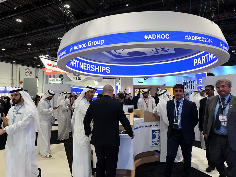 Adnoc on the 2nd day of Adipec 2018