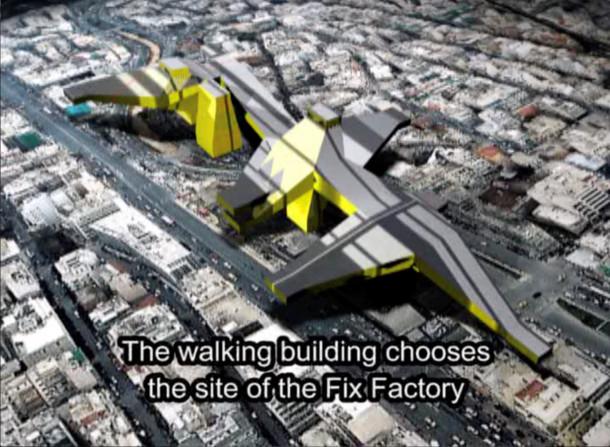 The Walking Building - Andreas Angelidakis