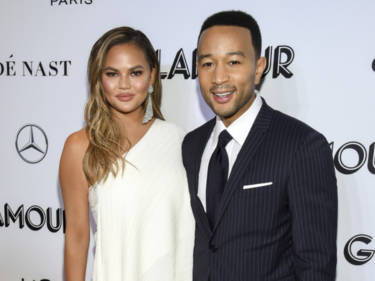 tab John Legend and Chrissy at Gamour awards