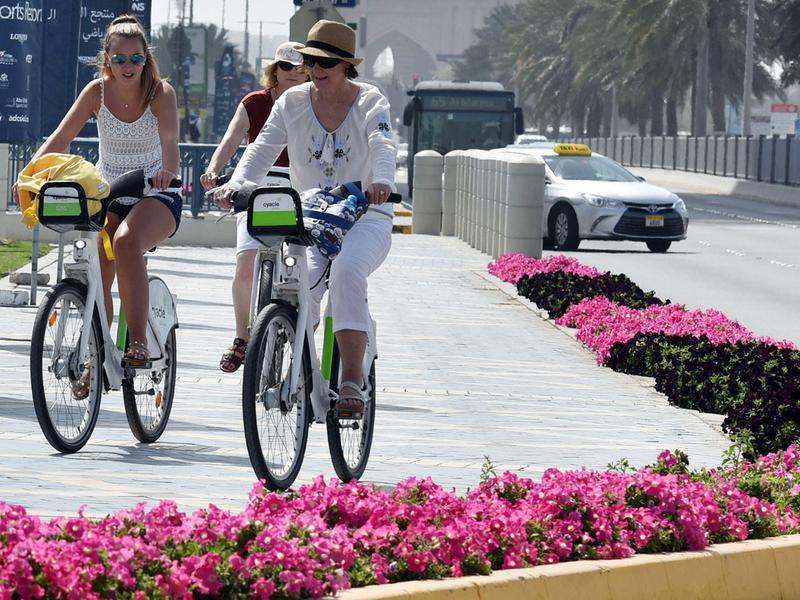 Corniche road in Abu Dhabi
