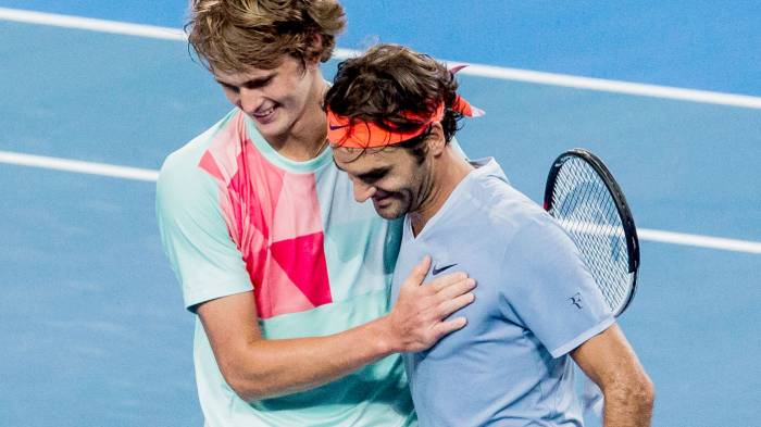 Zverev will face six-time champion Federer.