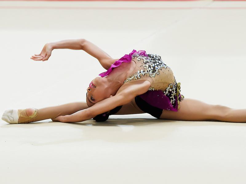 Emirati gymnast Lamia Tariq Malallah Al Farsi