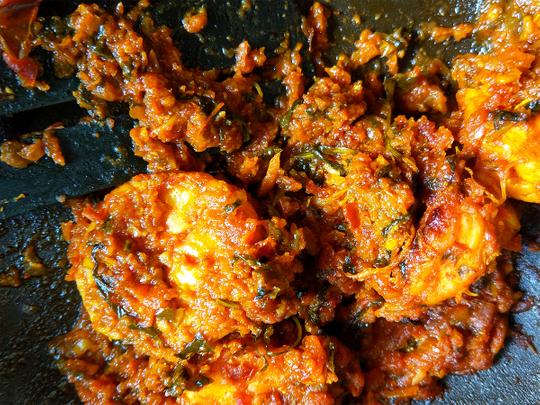 Kerala Shrimp Roast 2