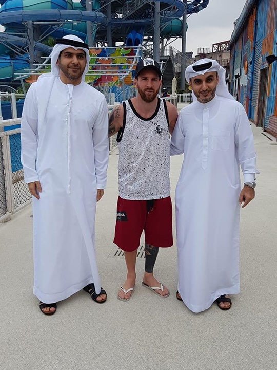 Lionel Messi in Dubai 2