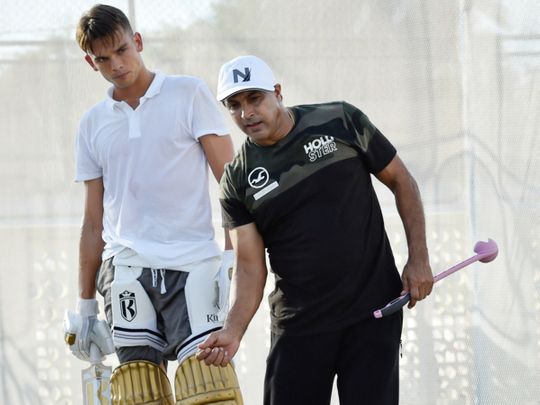 Robin Singh (right) with Australian cricketer Chris Green